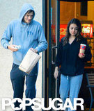 Ashton Kutcher and Mila Kunis grabbed coffee and bagels in LA.