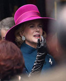 Nicole Kidman is currently filming in Europe.