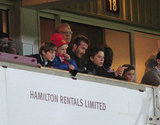 David Beckham and his boys — Brooklyn Beckham, Romeo Beckham, and Cruz Beckham — took in the FA Cup Third Round in London.