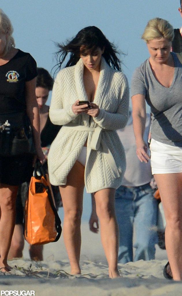 Kim Kardashian stepped out for a photoshoot in Miami.