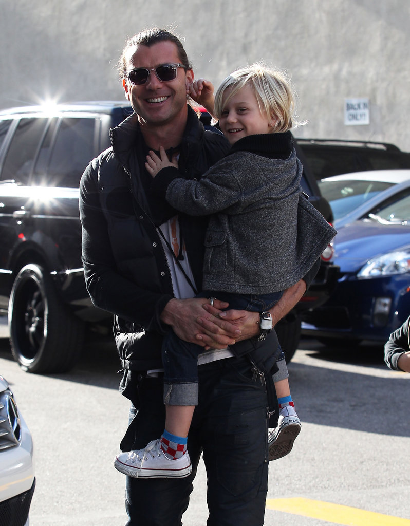 Gavin Rossdale had a smiley Zuma Rossdale on his hip for a trip to the museum in LA.