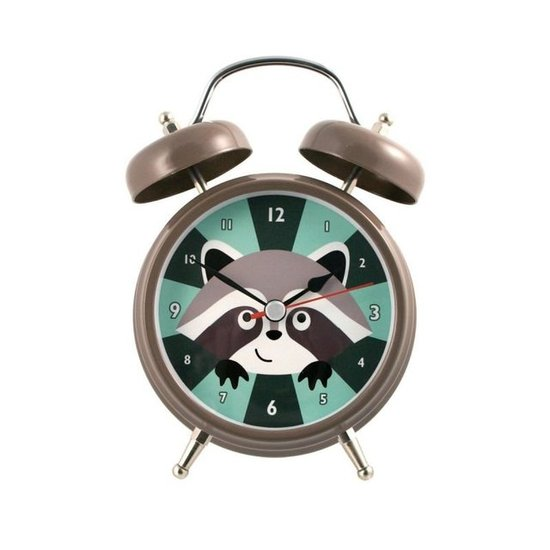 Streamline Raccoon Talking Alarm Clock