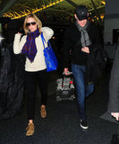 Emily Blunt and John Krasinski landed in NYC.