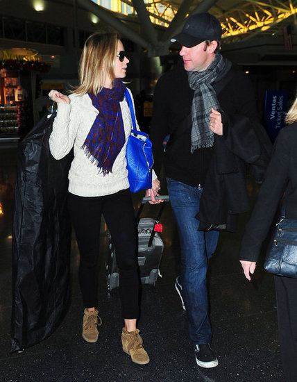 Emily Blunt wore brown Isabel Marant shoes.