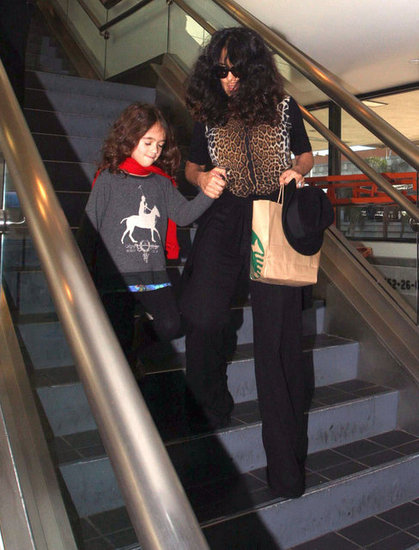 Salma Hayek carried a Starbucks bag.