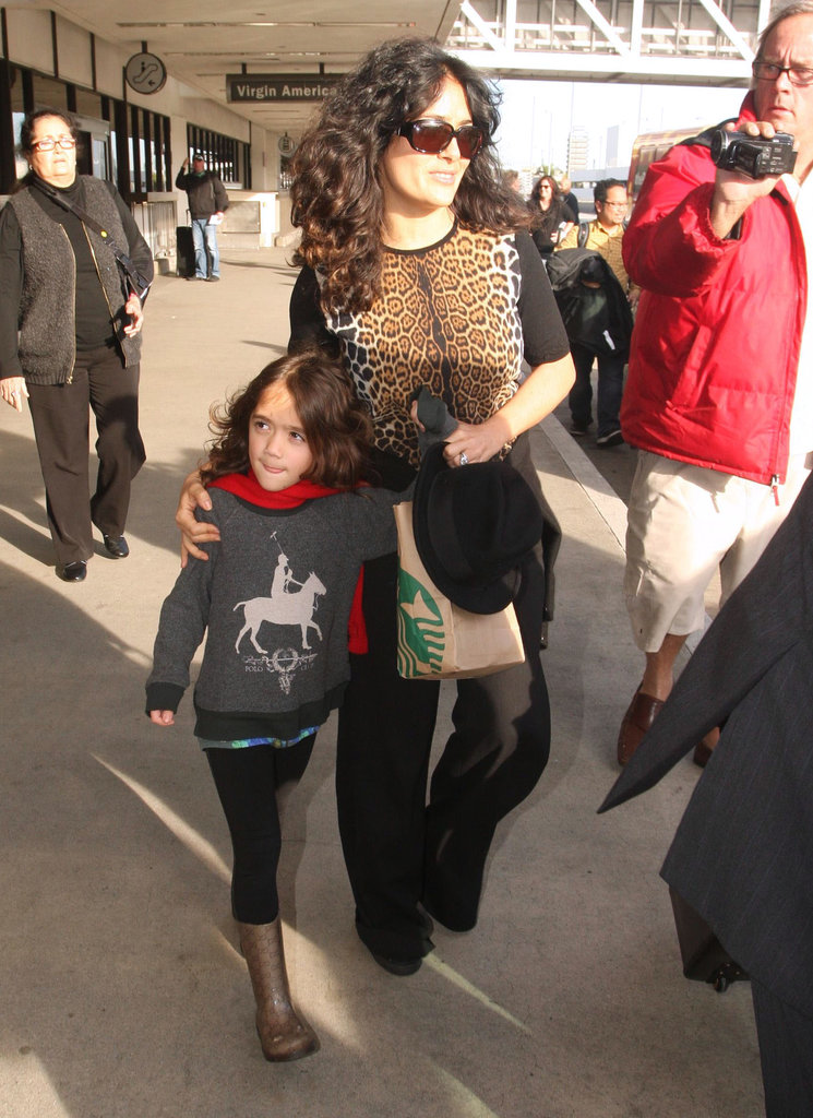Salma Hayek and Valentina Land in LA to Start Award Season