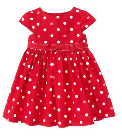 Gymboree Bow Heart Dot Dress