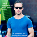 According to Poli Sci Ryan Gosling, he's only got eyes for you.