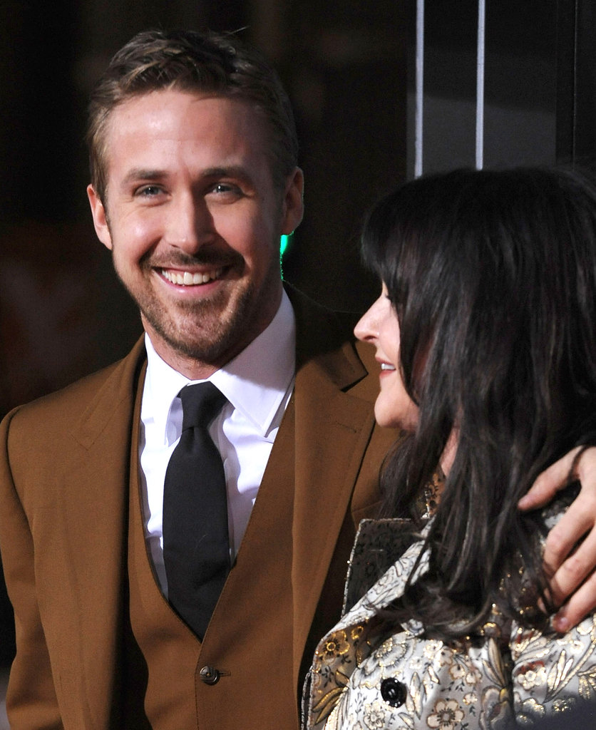 Ryan shared a laugh with his mom, Donna, at the premiere.