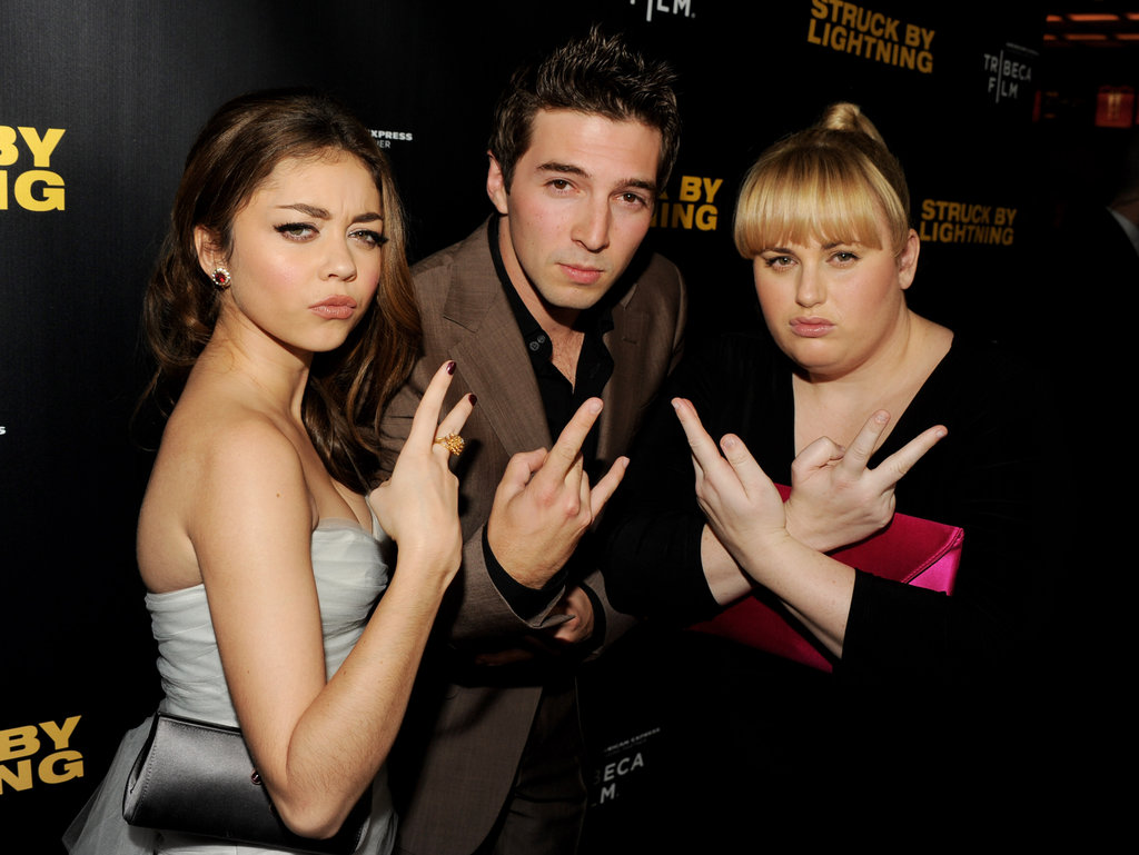 Sarah Hyland, Roberto Aguire and Rebel Wilson