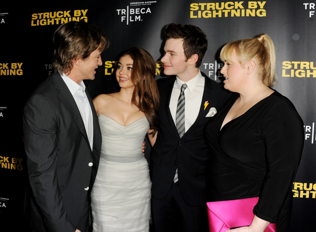 Dermot Mulroney, Sarah Hyland, Chris Colfer and Rebel Wilson