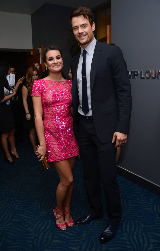 Lea Michele and Josh Duhamel