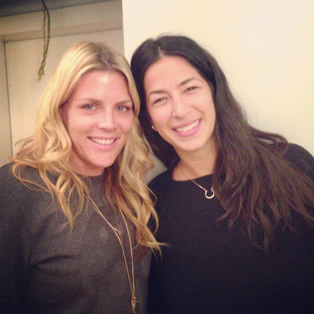 Cougar Town's Busy Philipps posed with designer Rebecca Minkoff.  Source: Instagram user busyphilipps