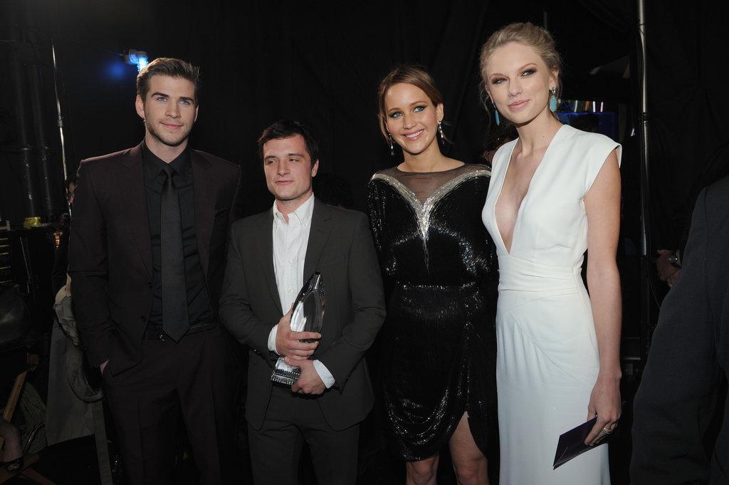 Liam Hemsworth, Josh Hutcherson, Jennifer Lawrence, and Taylor Swift