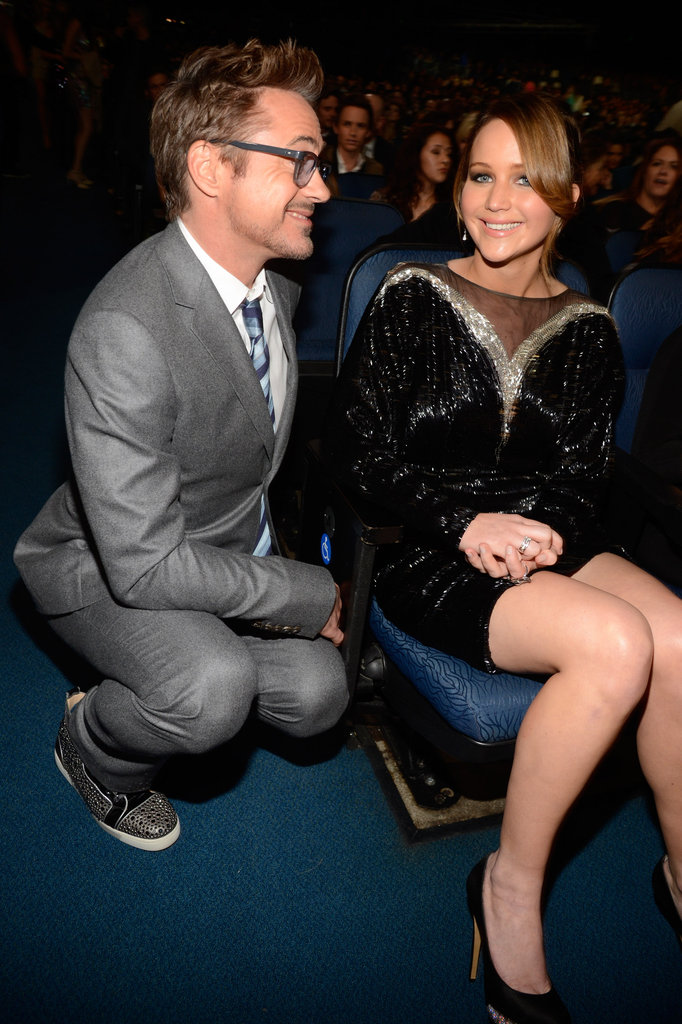 Jennifer Lawrence chatted with Robert Downey Jr.
