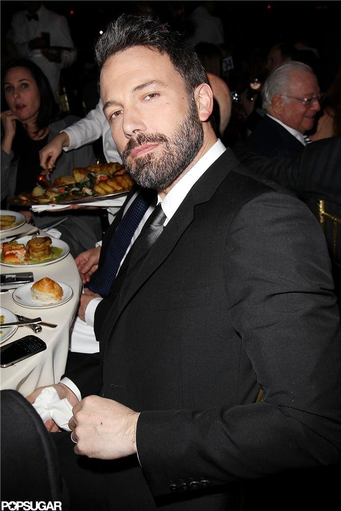 Ben Affleck took his seat for the National Board of Review Gala in NYC.