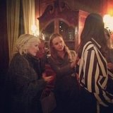 Stella McCartney showed her latest pieces to Glenn Close. Source: Instagram user stella_mccartney