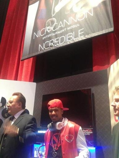 Nick Cannon shared a photo from his post at the 2013 Consumer Electronics Show. Source: Twitter user NickCannon