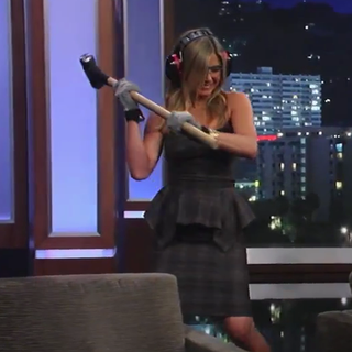 Jennifer Aniston and Jimmy Kimmel Haircut Video