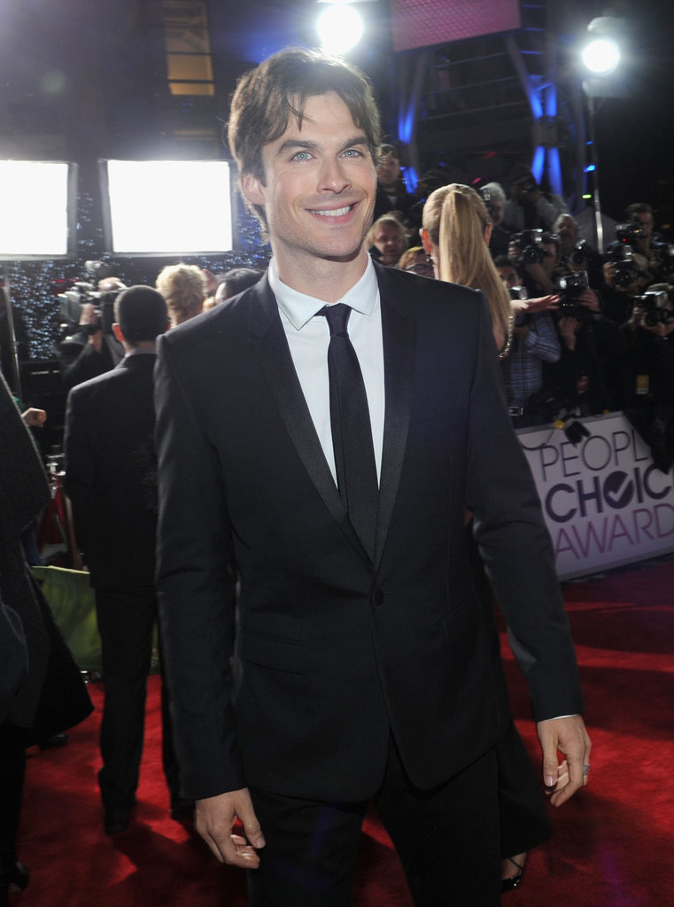 Ian Somerhalder smiled on the red carpet.