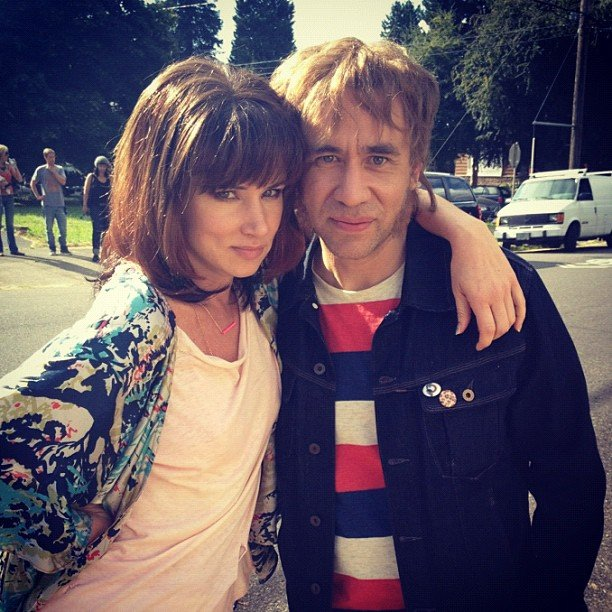 Juliette Lewis and Fred Armisen wigged out on the set of Portlandia. Source: Twitter user JulietteLewis