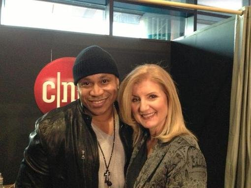 Arianna Huffington posed with LL Cool J during the Consumer Electronics Show. Source: Twitter user ariannahuff