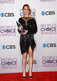 Jennifer Lawrence posed with her PCA statue.