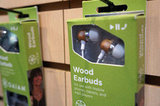 Wood earbuds by Gaiam.