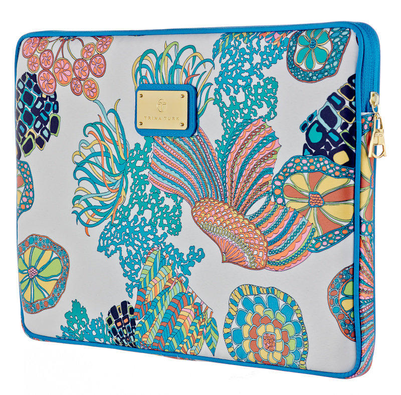 Trina Turk M-Edge Laptop Sleeve in Crazy Botanical