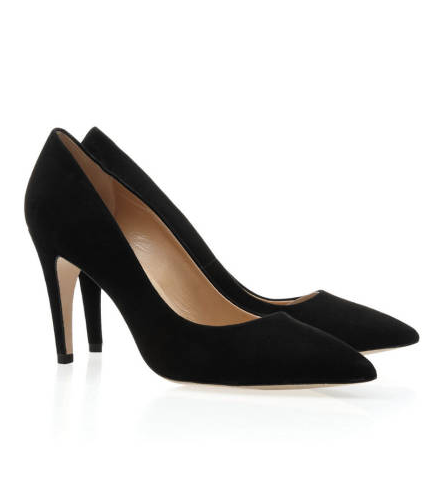 Diane von Furstenberg Anette pumps ($298) are the perfect height — not too low, not too high.