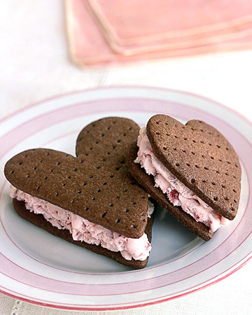 Chocolate Strawberry Ice Cream Sandwiches