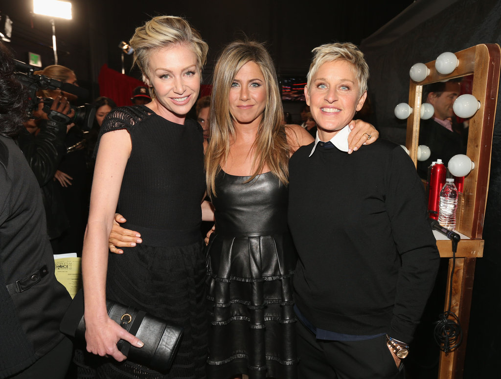 Portia de Rossi, Jennifer Aniston, and Ellen DeGeneres posed for a pic.