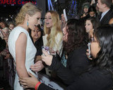 Taylor Swift enjoyed a moment with her enthusiastic fans!