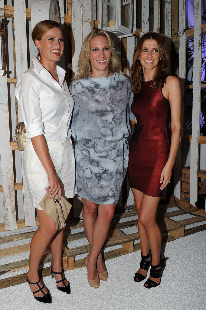 Francesca Cumani, Zara Phillips and Kate Waterhouse