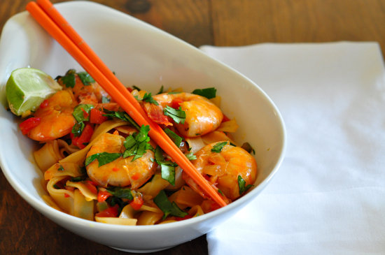 Shrimp Stir-Fry With Rice Noodles