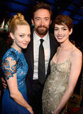 Amanda Seyfried, Hugh Jackman, and Anne Hathaway