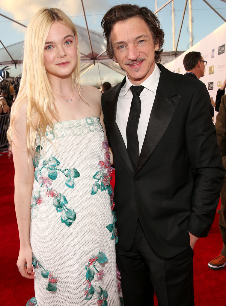 Elle Fanning and John Hawkes