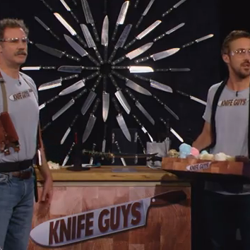 Ryan Gosling and Will Ferrell Knife Guys on Jimmy Kimmel