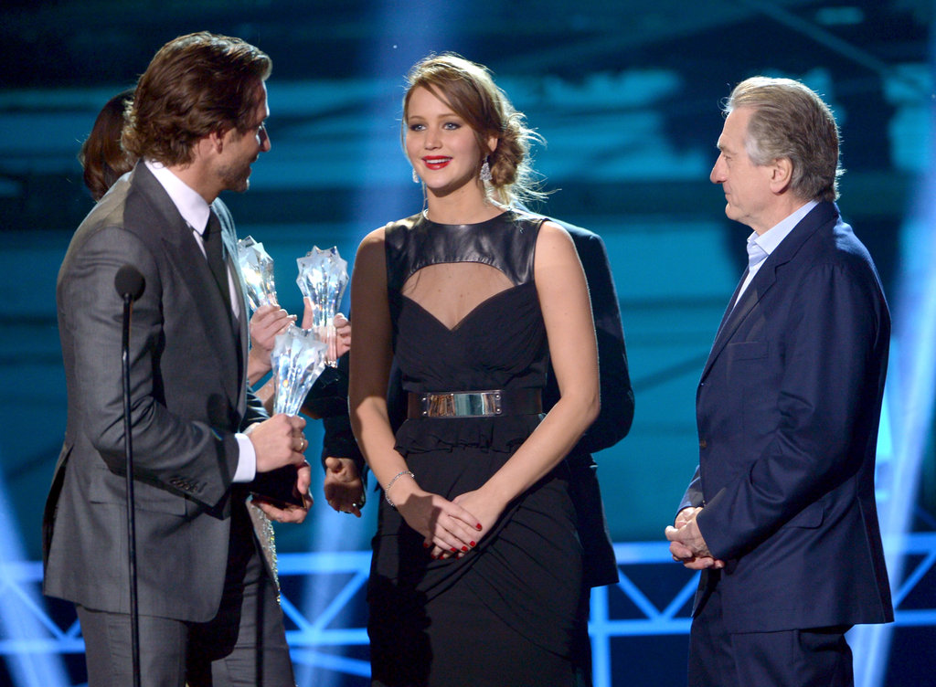 Bradley Cooper, Jennifer Lawrence, and Robert De Niro
