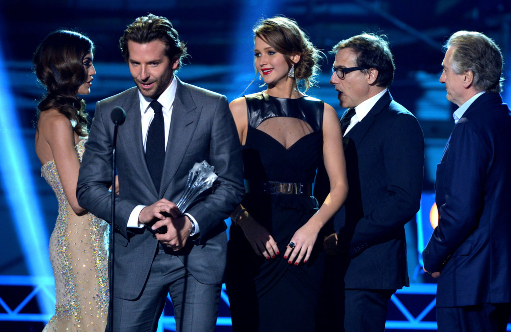 Bradley Cooper, Jennifer Lawrence, David O. Russell, and Robert De Niro