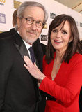 Lincoln director Steven Spielberg and the film's star Sally Field snapped a photo together.