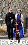 Anne Hathaway and Adam Shulman kept warm during an NYC stroll.
