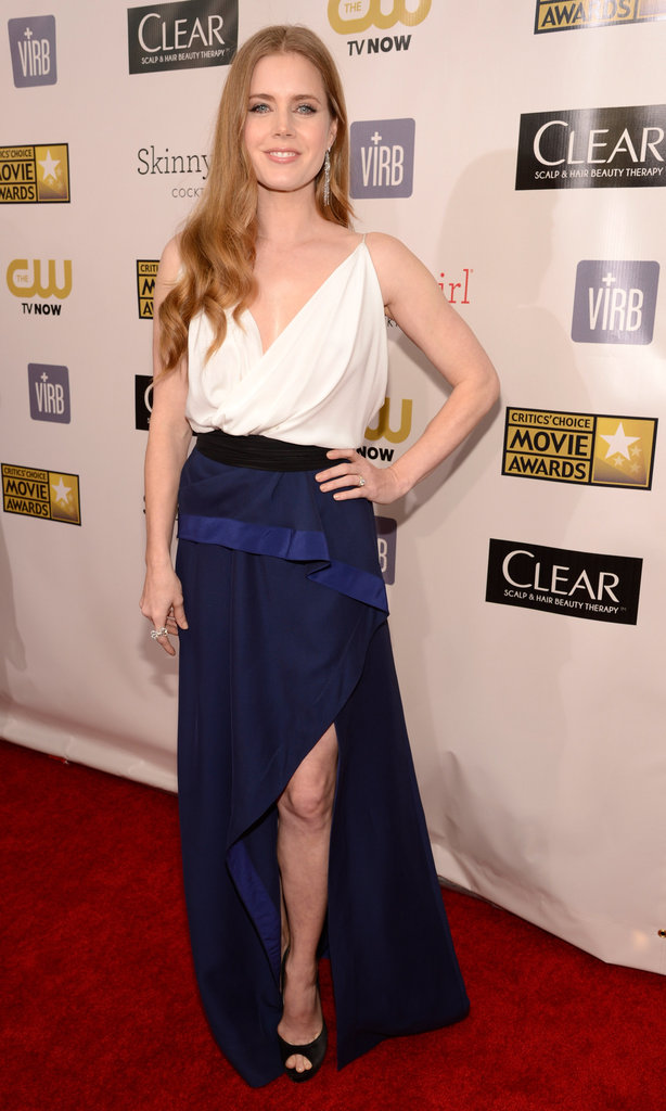 Amy Adams arrived at the Critics' Choice Awards.