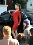 Miranda Kerr Looks Red-Hot For a Beverly Hills Photo Shoot