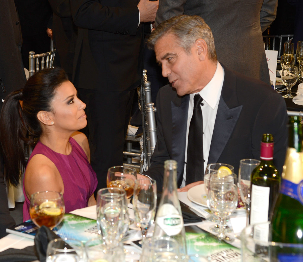 Eva Longoria and George Clooney talked together during the show.