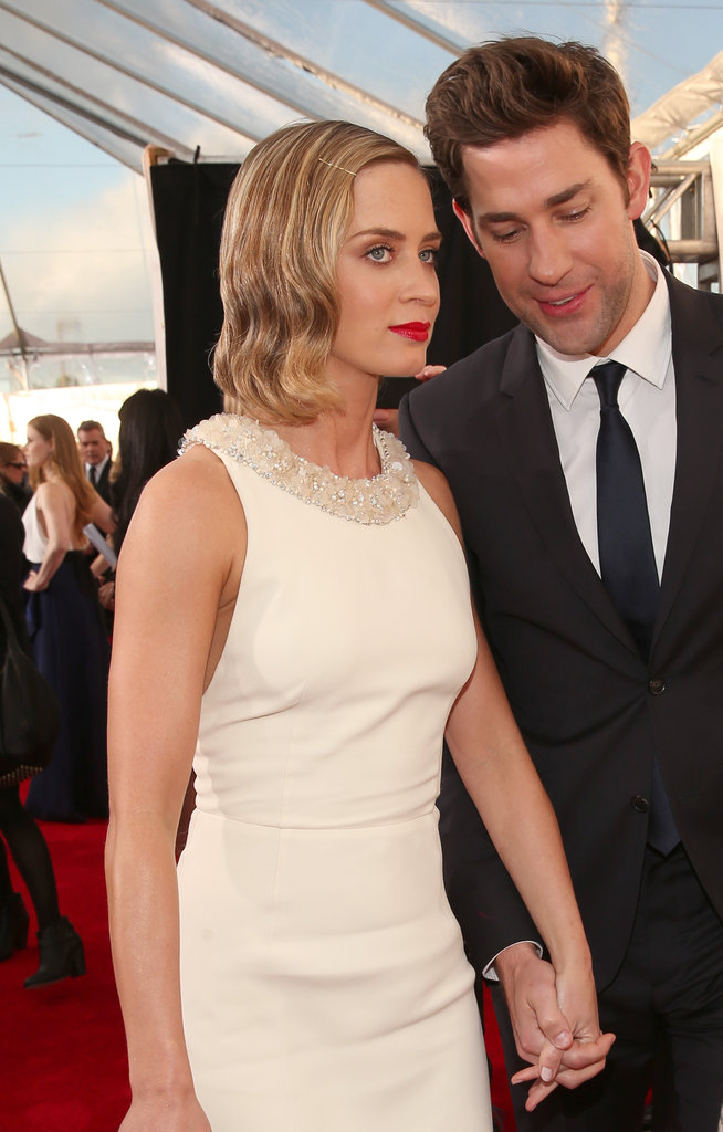 Emily Blunt and John Krasinski held hands at the Critics' Choice Awards.