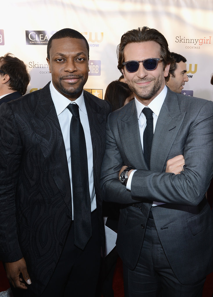 Chris Tucker and Bradley Cooper hung out on the red carpet.