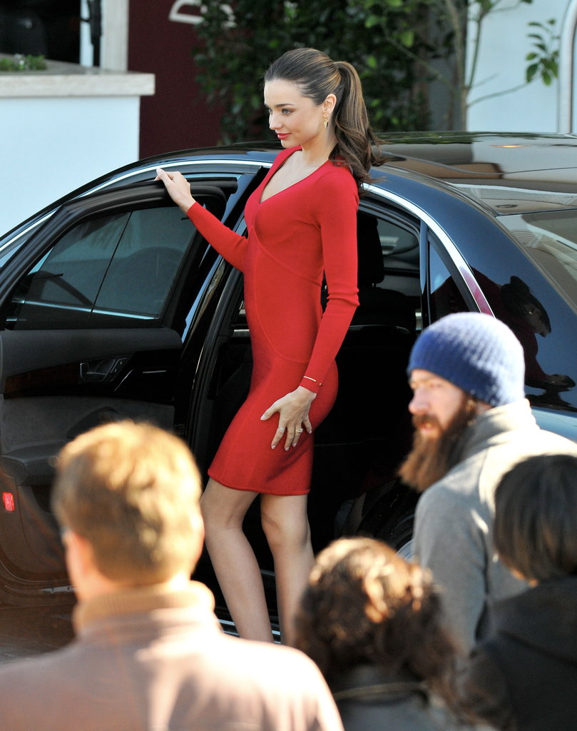 Miranda Kerr posed for photos in Beverly Hills.