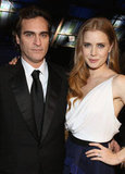 Joaquin Phoenix and Amy Adams posed together backstage.