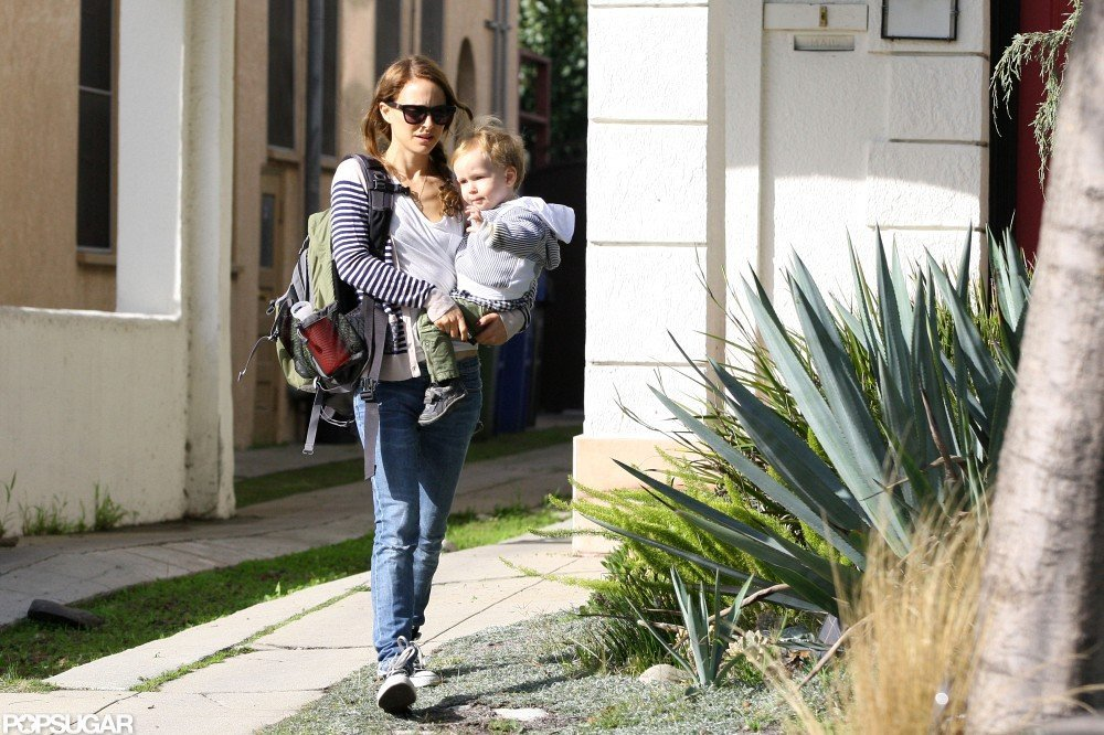 Natalie Portman walked with Aleph.